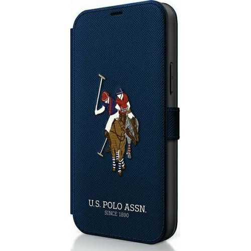 U.S. Polo Assn. Embroidery Collection Book Navy Μπλε (iPhone 12 / 12 Pro)