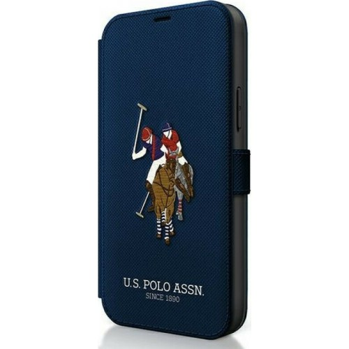 U.S. Polo Assn. Embroidery Collection Book Navy Blue (iPhone 12 Pro Max)