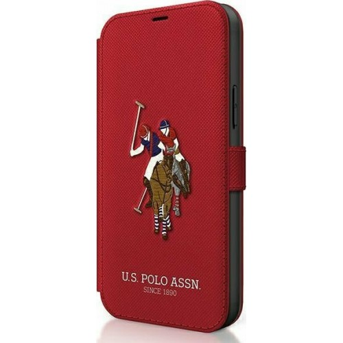 U.S. Polo Assn. Embroidery Collection Book Red (iPhone 12 / 12 Pro)