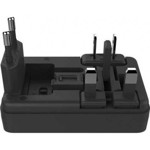 WK 2x USB Wall Adapter Μαύρο (WP-U08) (UK,EU,US,AU)