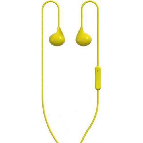 WK Wi200 In-ear Handsfree με Βύσμα 3.5mm Κίτρινο