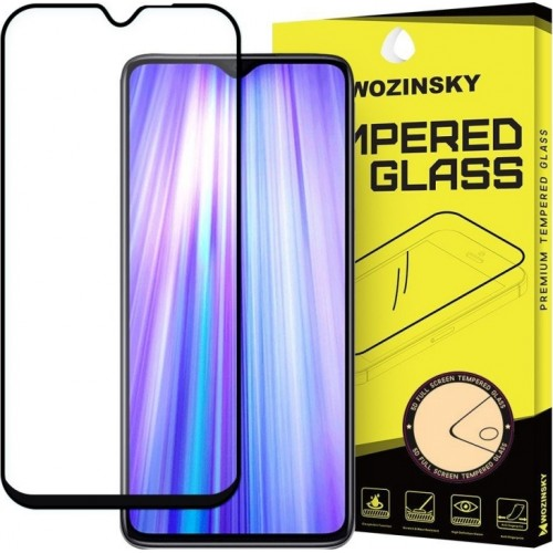 Wozinsky Case Friendly Full Glue Tempered Glass Black Xiaomi (Redmi Note 8 Pro)