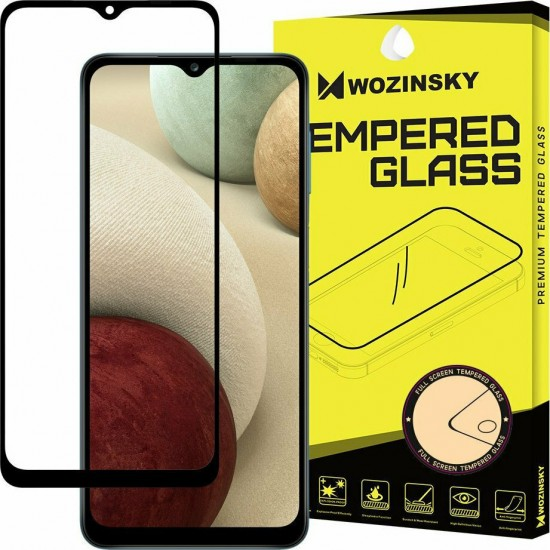 Wozinsky Full Glue Full Face Tempered Glass Black (Galaxy A12)