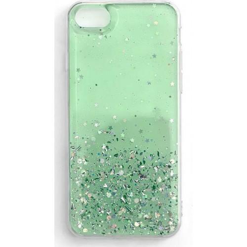Wozinsky Star Glitter Back Cover Σιλικόνης Πράσινο (iPhone SE 2020/8/7)