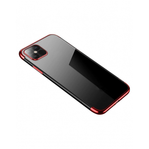Clear Color Case Gel TPU Electroplating frame Cover for Xiaomi Mi 10T Lite / Redmi Note 9T Pro / Note 9 Pro 5G Red