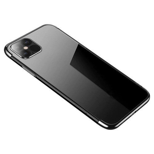 Clear Color Case Gel TPU Electroplating frame Cover for Xiaomi Mi 10T Lite / Redmi Note 9T Pro / Note 9 Pro 5G black