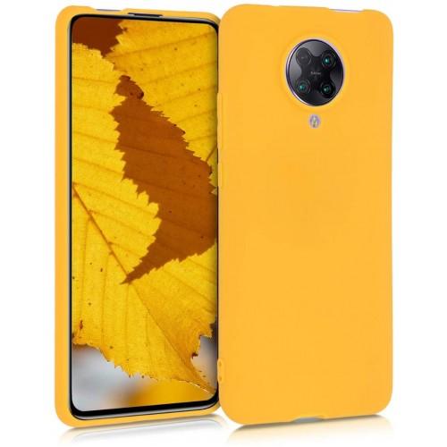 Oem Θήκη Σιλικόνης Matt Για Xiaomi Poco X3 NFC Κίτρινο