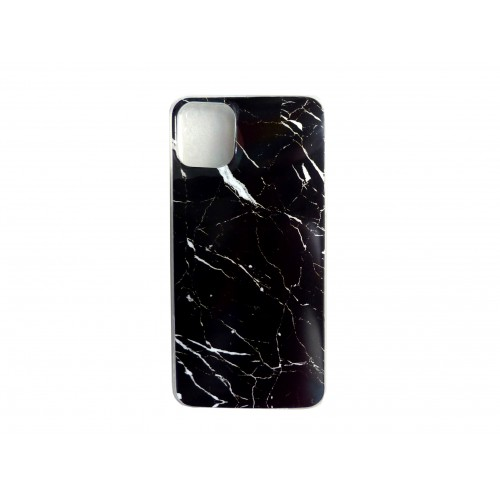 OEM BACK COVER SILICONE APPLE IPHONE 11 PRO MARBLE BLACK
