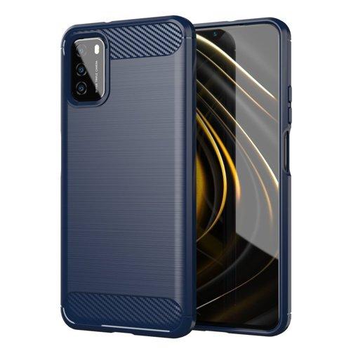Oem Θήκη Σιλικόνης Carbon Για Xiaomi Redmi 9T / Poco M3 / 9 Power / Note 9 4G Μπλε