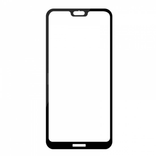 Full Face Tempered glass / Αντιχαρακτικό Γυαλί Πλήρους Oba Οθόνης 3D Για Huawei P Smart 2021 Μαύρο