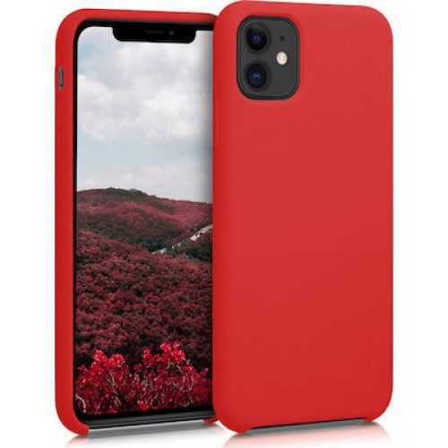 OEM SILICONE CASE MAT 1.5 MM BLISTER ΓΙΑ APPLE IPHONE 12 PRO MAX 6,7'' RED