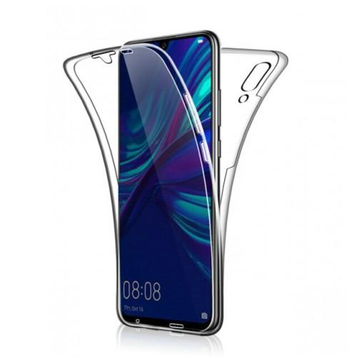 Θήκη Σιλικόνης 360° Για Huawei P Smart 2019 Full Cover Διάφανη