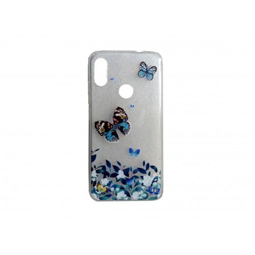 Oem Θήκη Σιλικόνης Για Samsung Galaxy A20E Με Σχέδιο Butterfly Τιρκουάζ