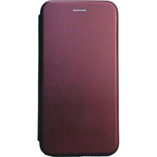 Οem Θήκη Βιβλίο Smart Magnet Elegance Για Huawei P Smart 2020 Μπορντό