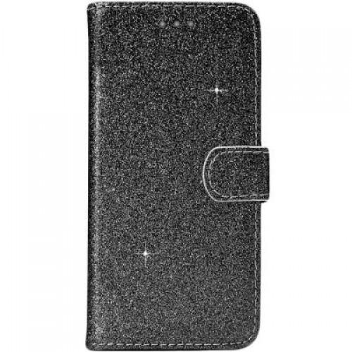 Θήκη Βιβλίο Χρυσόσκονη Για Huawei P30 Lite Μαύρο