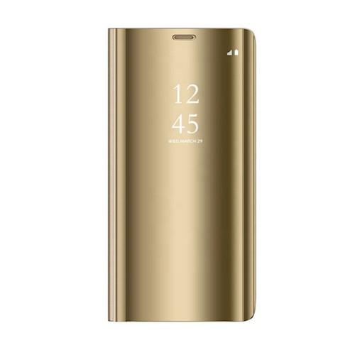 Oem Θήκη Clear View Cover Για Huawei Y5P 2020 Χρυσό