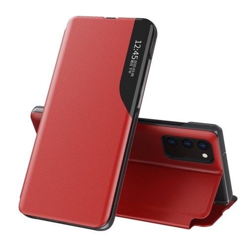 Oem Case Book Eco Leather View Case elegant For Samsung Galaxy M51 Red