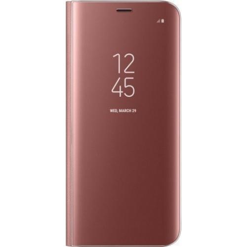 Θήκη Clear View Cover Για Xiaomi Redmi 7A Χρυσή-Ροζ