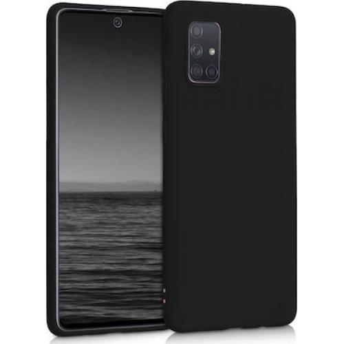 Oem Θήκη Σιλικόνης Matt Για Huawei P Smart 2021 Μαύρο