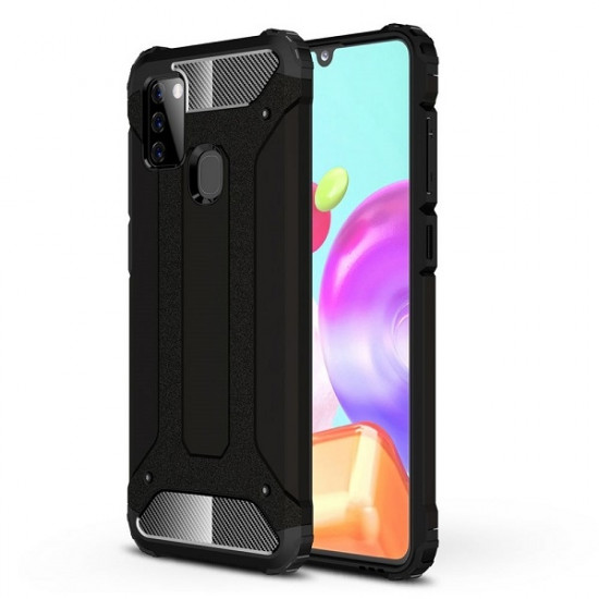 FORCELL ΘΗΚΗ ARMOR BACK COVER ΓΙΑ SAMSUNG GALAXY A21S ΜΑΥΡΟ