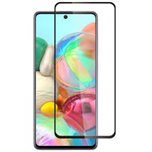 Full Face Tempered glass / Anti-Engraving Glass Full Oba 3D Screen For Samsung Galaxy M51 5G Black