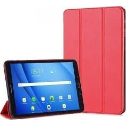 Trifold Silicone Book Case Flip Cover for Samsung Galaxy Tab A 10.1 2019 T510/T515 Red