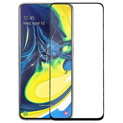Full Face Tempered glass / Αντιχαρακτικό Γυαλί Πλήρους Οθόνης 3D Για Samsung Galaxy A80 Μαύρη