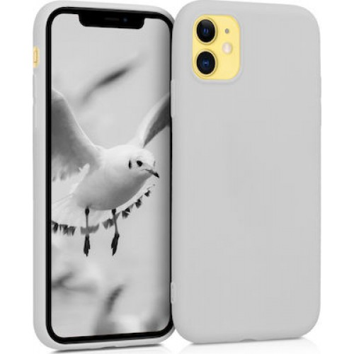 OEM SILICONE CASE MAT 1.5 MM BLISTER ΓΙΑ APPLE IPHONE 12 PRO MAX 6,7'' WHITE GREY
