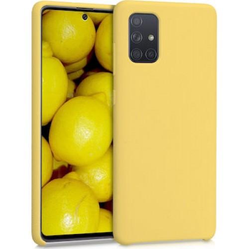 Oem Θήκη Σιλικόνης Matt Για Huawei P Smart 2021 Κιτρινο