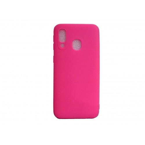 Θήκη Σιλικόνης Για Samsung Galaxy A20E Ροζ MATT
