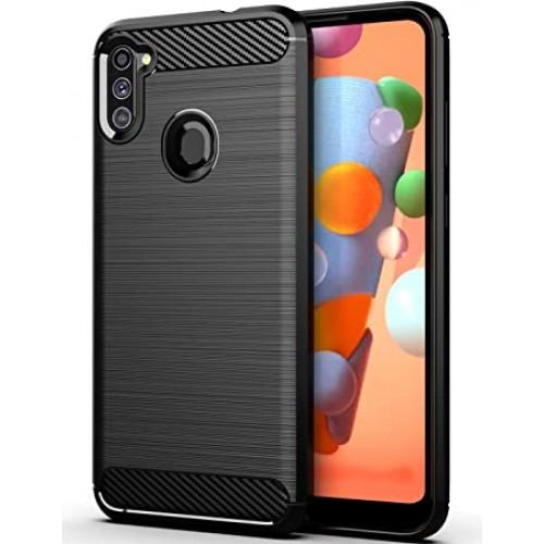 OEM Θήκη Σιλικόνης Carbon Για Samsung Galaxy A11 / M11 Μαύρο