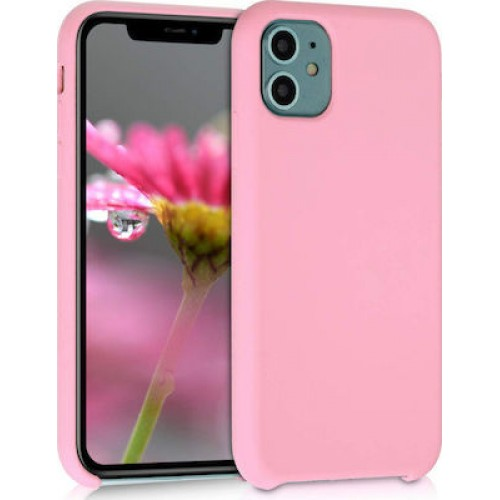 OEM SILICONE CASE MAT BLISTER ΓΙΑ APPLE IPHONE 12/12 PRO 6,1'' PINK
