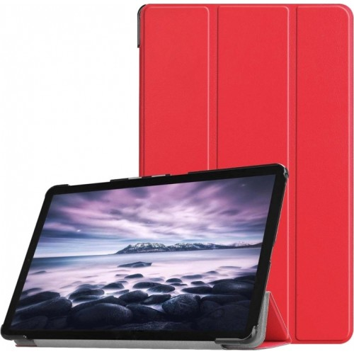 OEM Θήκη Βιβλίο - Σιλικόνη Flip Cover Για Huawei MediaPad T5 10.1'' Κόκκινη