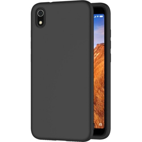 Oem Θήκη Σιλικόνης Matt Για Xiaomi Redmi 7A Μαύρο