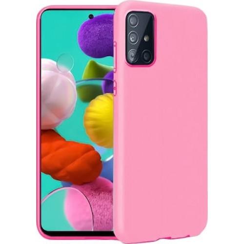 Oem Θήκη Σιλικόνης Matt Για Samsung Galaxy A42 5G Ροζ