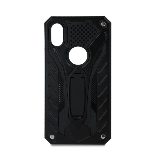 DEFENDER PHANTOM CASE WITH STAND ΓΙΑ HUAWEI Y7 2019 ΜΑΥΡΟ