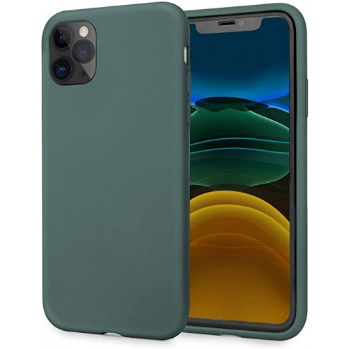 OEM SILICONE CASE MAT 1.5 MM BLISTER ΓΙΑ APPLE IPHONE 12 PRO MAX 6,7'' OLIVE GREEN