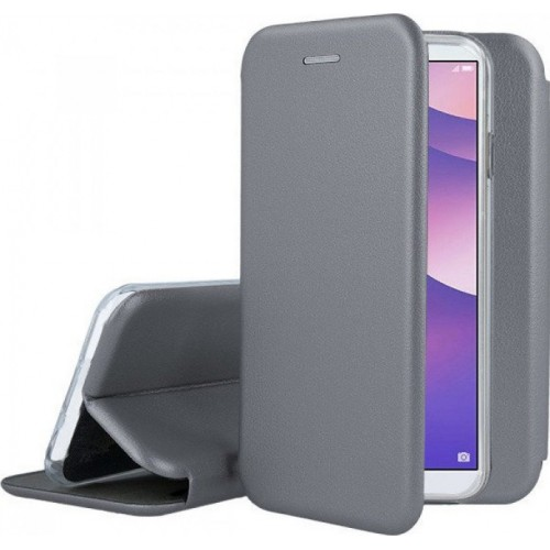 Oem Θήκη Βιβλίο Smart Magnet Elegance Για Samsung Galaxy A12 Γκρι