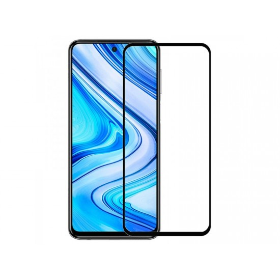 Oem Full Face Tempered glass / Αντιχαρακτικό Γυαλί Πλήρους Οθόνης 3D Για Xiaomi Redmi Note 9 5G / Note 9T Μαύρο
