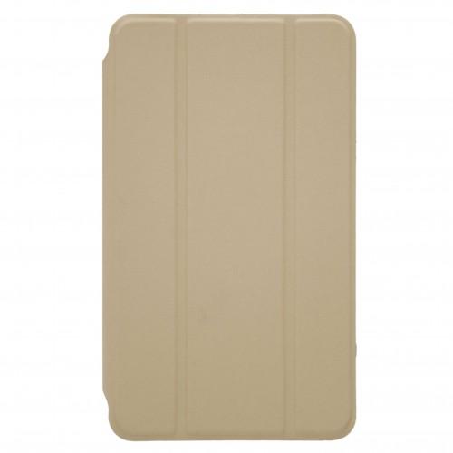 Trifold Θήκη Βιβλίο με Σιλικόνη Flip Cover Για Samsung Galaxy Tab S5e T720/T725 Χρυσή