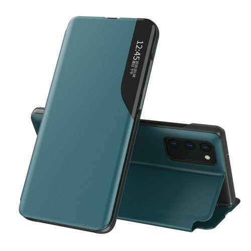 Oem Case Book Eco Leather View Case elegant For Samsung Galaxy M51 Green