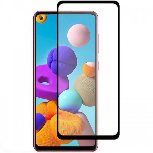 Full Face Tempered glass / Αντιχαρακτικό Γυαλί Πλήρους Οθόνης 3D Για Samsung Galaxy A21s / A21 Μαύρη