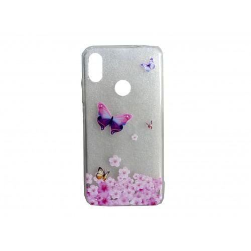 Oem Θήκη Σιλικόνης Για Samsung Galaxy A20E Με Σχέδιο Butterfly Ροζ