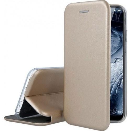 Oem Θήκη Βιβλίο Smart Magnet Elegance Για Samsung Galaxy A12 Χρυσό
