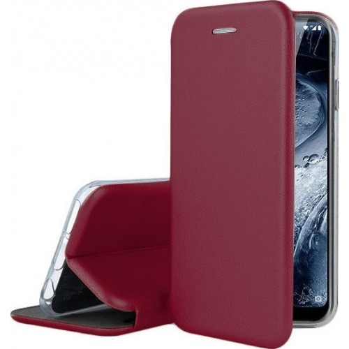 Oem Θήκη Βιβλίο Smart Magnet Elegance Για Samsung Galaxy A12 Μπορντό