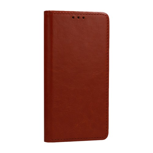 Θήκη Βιβλίο Genuine Italian Leather Case Για Samsung Galaxy S21 Plus 5G Καφέ