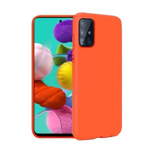 Oem Θήκη Σιλικόνης Matt Για Samsung Galaxy Note 10 Lite / A81 Πορτοκαλί