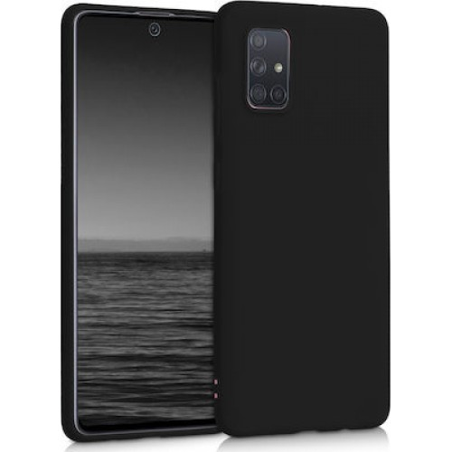 Oem Θήκη Σιλικόνης Matt Για Samsung Galaxy A32 5g Μαύρο