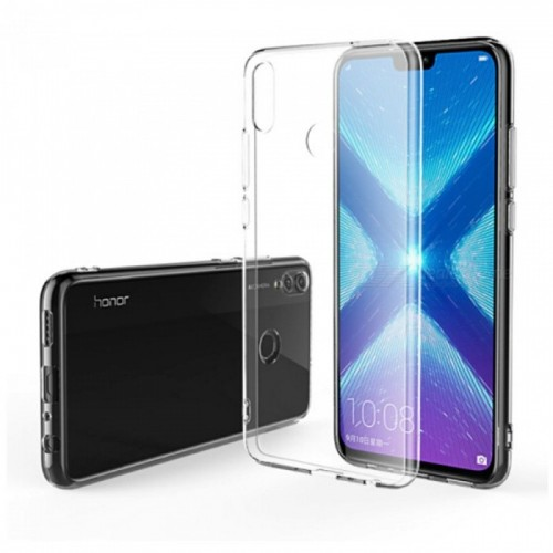 OEM Back Cover Silicone for  Huawei Honor 8X Transparent