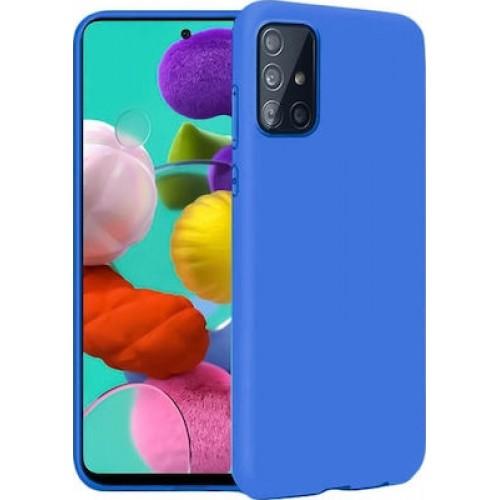 Oem Θήκη Σιλικόνης Matt Για Samsung Galaxy A42 5G Μπλε